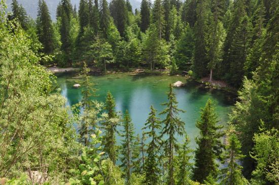 Au-dessus du lac Vert