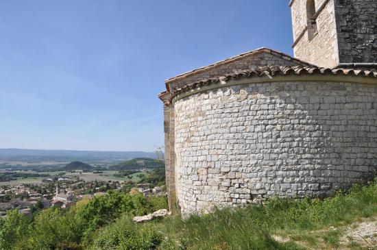 La plaine de la Valdaine vue depuis Saint-Felix