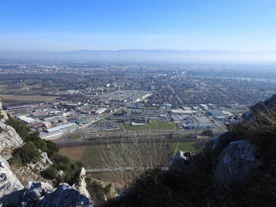 La plaine de Valence depuis la montagne de Crussol