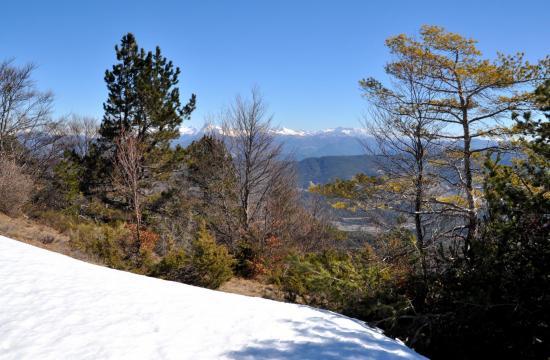 Sur la crête de la montagne de Praloubeau