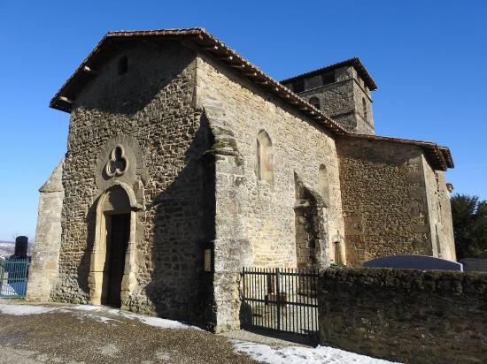 L'église romane St Etienne de Bathernay