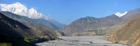 La vallée de la Kali Gandaki en aval de Kagbeni (Mustang - Népal)