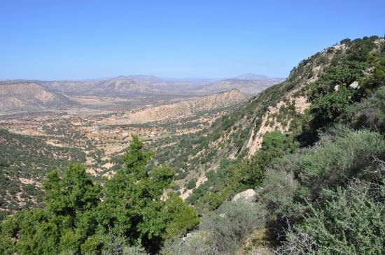 Belvédère sur l'oued Tamri depuis Taqarrou