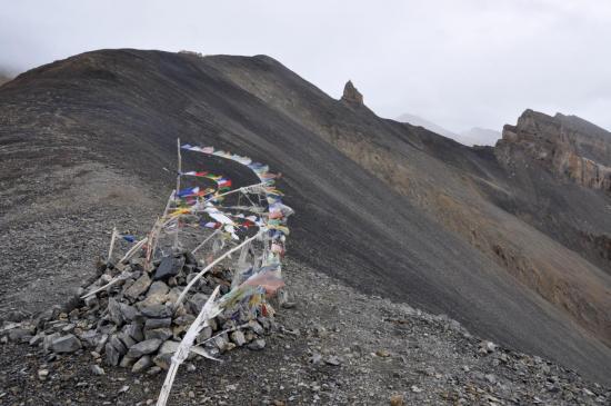 Au Marang La (5300m) et descente fissa...
