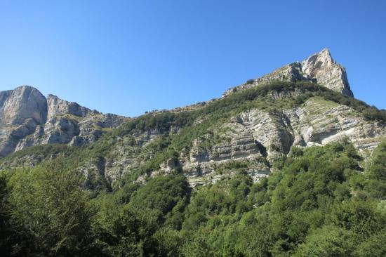La cime du Veyou vue depuis le col de la Chaudière