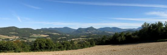 Depuis Mirabel, panoramique sur la vallée de la Gervanne