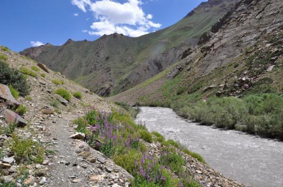 La vallée de l'Oma Chu en aval de Dibling