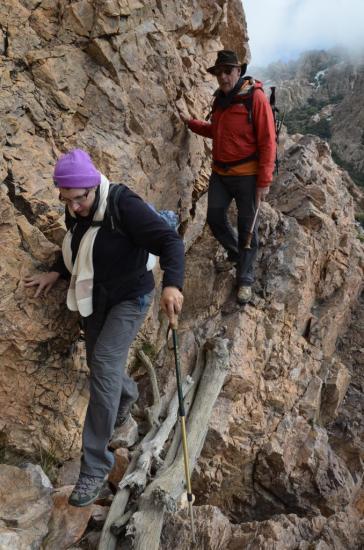 Corine et JeanMarc dans le passage de l'ifilo