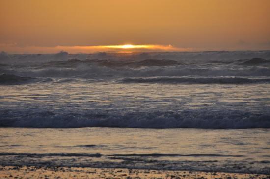 Coucher de soleil sur la plage de Tamri