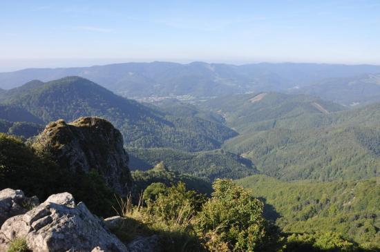 Vogelstein (panorama sur la vallée de la Doller)