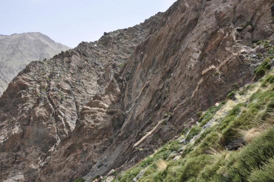La fameuse falaise à traverser lors de la descente directissime