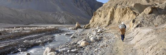 Dans le lit de la Kali Gandaki