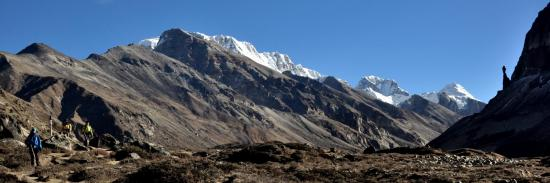 Entre Lhonak et Khambachen lors de la descente du 2e camp de base du Kangchenjunga
