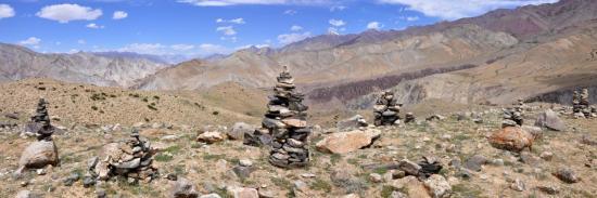 La haute vallée de la Markha (bordure W du plateau du Nyimaling)