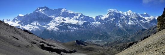 Le massif de l'Annapurna depuis le Kang La (Népal)