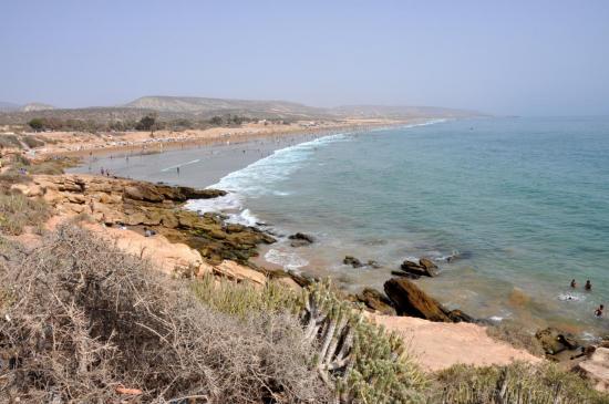 La plage de Taghazout