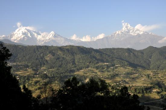 La chaîne de l'Annapurna depuis Naudanda