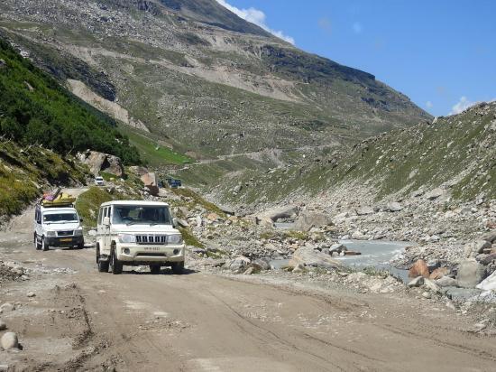 Entre Chhatru et Gramphu sur la route du Spiti