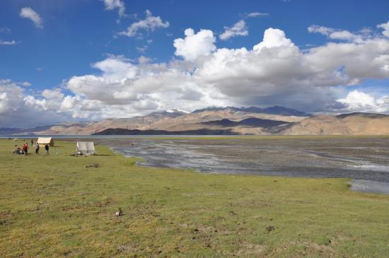 Campement à proximité du lac Tsomoriri
