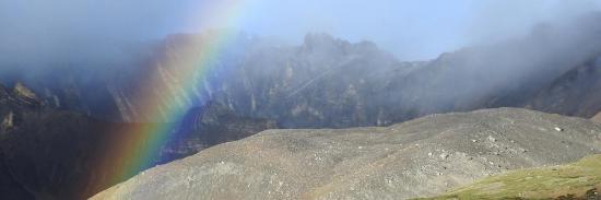 Arc-en-ciel à Lajar Sumna (haut Dolpo)