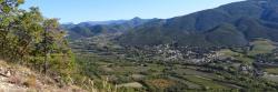 Montée vers la cime du Rozier depuis la Roche-Saint-Secret