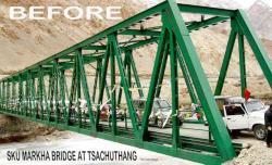 Le pont de la markha avant