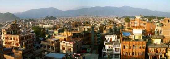 Lever de soleil sur Kathmandou