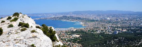 La ville de Marseille depuis le sommet de Béouveyre