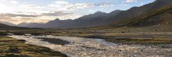Coucher de soleil sur le plateau du Nyimaling (Ladakh)