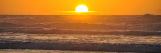 Coucher de soleil sur la plage de Tamri (Maroc)