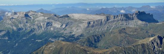 Plateau des Fiz (vu depuis le refuge des Cosmiques)
