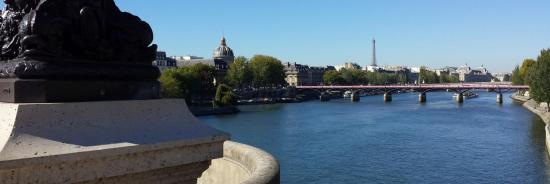 Le pont des Arts vu depuis le pont Neuf (Paris)