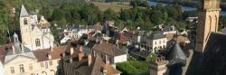 Vue sur le village depuis le donjon du château de la Roche-Guyon