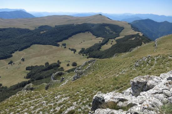 Le plateau d'Ambel vers le sud