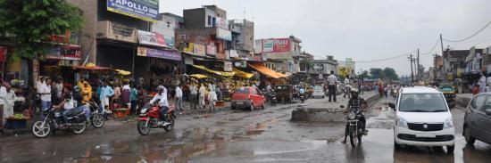 Sur la route entre Chandigarh et Delhi