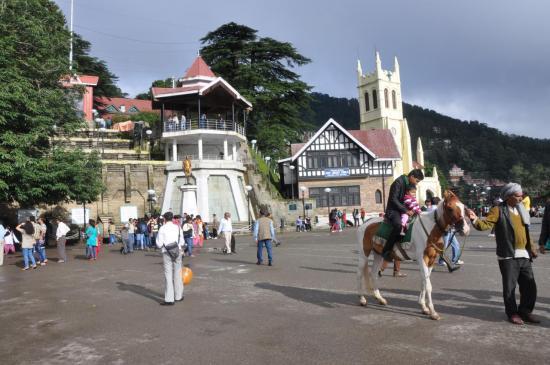 La place haute de Shimla