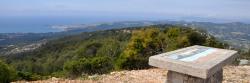 Panorama sur la baie de Bandol depuis le sommet du Gros Cerveau