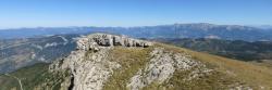 Les murailles sud du Vercors vues depuis le sommet de la Servelle (1613m)