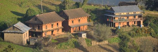 Maisons tamang sur la Timal danda
