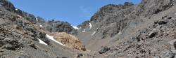 Le tizi n'Ouagane vu côté sud (massif du Toubkal - Maroc)