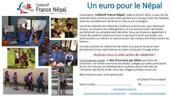 Un euro pour le Nepal