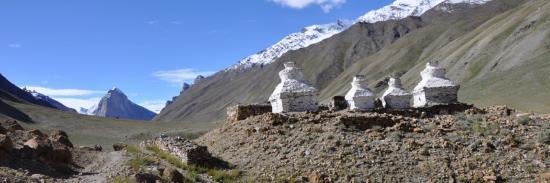 Remontée de la haute vallée de la Kargyak Chu