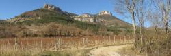 La falaise du Gaudichart au départ de Vercheny-le-haut