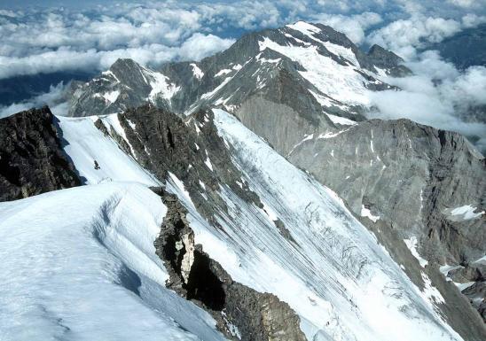 Les faces N de la Grande Casse vues du sommet