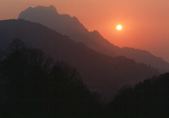 Coucher de soleil à Marignana