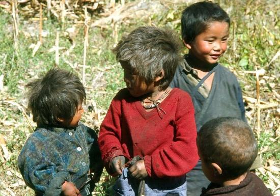 Enfants à Ghap