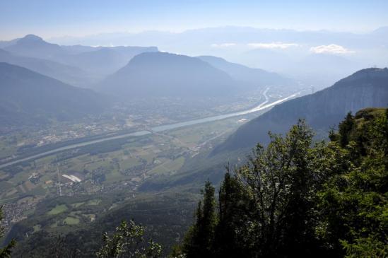 La plaine de Grenoble depuis la Sure