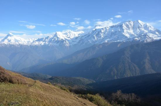Le Lamjung himal depuis Chomro Dharmasala