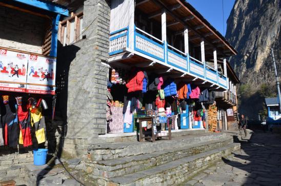 Le bourg commerçant de Chame