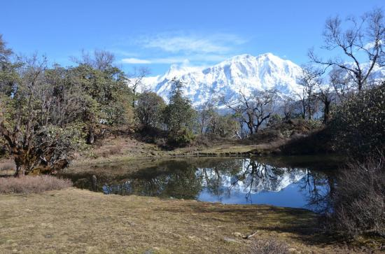 Dudh Pokhari au point le plus haut du trek